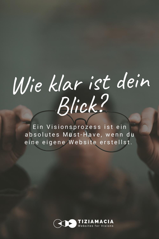 Visionsproezss beim Erstellen von Websites