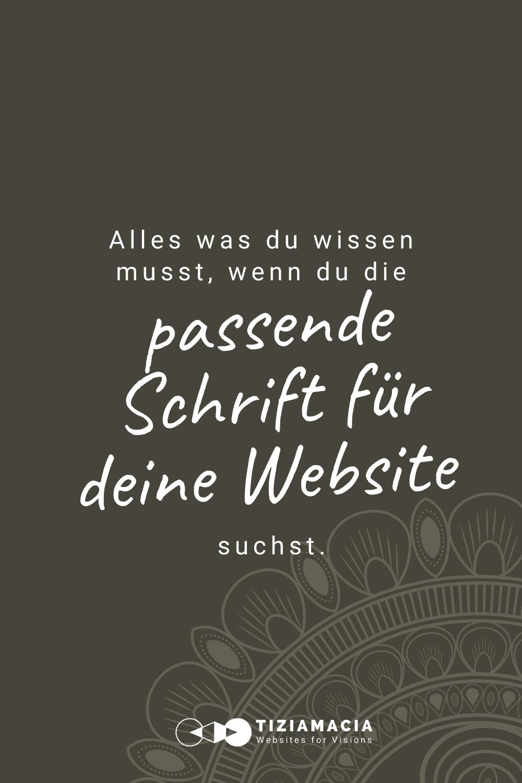 Die passende Schrift für deine Website